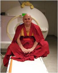 Matthieu preparing to demonstrate compassion in the scanner